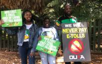 Gauteng residents from different political parties and organisations are joining hands under one banner as they demand that e-tolls be scrapped in Gauteng. Picture: Mia Lindeque/EWN.