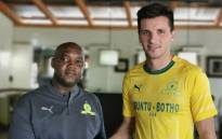 Mamelodi Sundowns announced on 10 July 2019 it had agreed on terms with Uruguayan striker Mauricio Affonso - signing a five-year deal at Chloorkop. Picture: @Masandawana/Twitter .