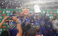 The Cape Cobras celebrate after winning the RAM SLAM T20 Challenge on 12 December 2014. Picture: Twitter via @Batty0810.
