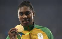 FILE: Gold medallist Caster Semenya poses on the podium for the Women's 800m Final during the Rio 2016 Olympic Games.  Picture: AFP.