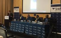 South African Revenue Services (Sars) Commissioner Edward Kieswetter briefs the media in Pretoria on 4 June 2019. Picture: @sarstax/Twitter