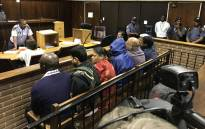 FILE: The suspects in the Vrede dairy farm project case appear in the Bloemfontein magistrates court on 15 February 2018. Picture: Barry Bateman/EWN