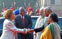 President Cyril Ramaphosa accompanied by his spouse Dr Tshepo Motsepe welcomed by President Ram Nath Kovind, his spouse and Prime Narendra Minister Modi on arrival at the Presidential Palace, New Delhi, India Picture: GCIS.