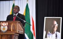 President Cyril Ramaphosa delivers a speech during the funeral service for ANC veteran and Rivonia Trialist Andrew Mlangeni in Soweto on 29 July 2020. Picture: @PresidencyZA/Twitter