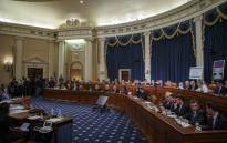 An overall view of the House Judiciary Committee committee markup hearing on the articles of impeachment against US President Donald Trump in the Longworth House Office Building on Capitol Hill 11 December 2019 in Washington, DC. Picture: AFP