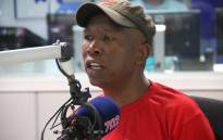 EFF leader Julius Malema in studio with Eusebius McKaiser on 18 April. Picture: Kayleen Morgan/EWN