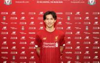 Liverpool's Japanese forward Takumi Minamino. Picture: @LFC/Twitter