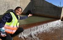 City of Cape Town Adlerman Xanthea Limberg at the launch of the first groundwater supply project from the Table Mountain Group aquifer, next to the City's Steenbras Dam, on 6 August 2020. Picture: @CityofCT/Twitter