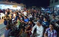 The audience of a traditional storyteller, gathers in the northern Iraqi city of Mosul, during the holy Muslim month of Ramadan on 17 May 2019. Picture: AFP