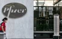 FILE: A pedestrian wearing a protective mask walks past Pfizer Inc headquarters on 22 July 2020 in New York City. Pfizer and German biotechnology firm BioNTech have agreed to supply the US government with 100 million doses of coronavirus vaccine under a $1.95 billion deal. Picture: AFP.
