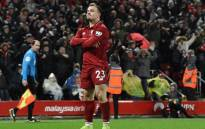 Liverpool's Swiss midfielder Xherdan Shaqiri celebrates after scoring their second goal during the English Premier League football match between Liverpool and Manchester United at Anfield in Liverpool, north-west England on 16 December 2018. Picture: AFP.
