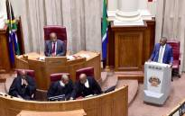 Deputy President David Mabuza replies to oral questions in the National Council of Provinces in Parliament, Cape Town. Picture: GCIS.