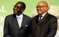FILE: Zimbabwean President Robert Mugabe and President Jacob Zuma. Picture: GCIS.