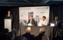 AllCash CEO Graeme King (left) addressing a Cash-in-transit Solutions Panel discussion along with Gauteng Community Safety MEC Sizakele Nkosi-Malobane. Picture: Facebook.com