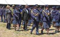President Cyril Ramaphosa is launching the anti-gang unit in Cape Town 0n 2 November 2018. Picture: Cindy Archillies/EWN