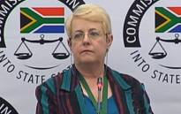 A YouTube screengrab of former Air Force employee Lieutenant-Colonel Christine Anderson gives evidence at the Zondo commission of inquiry into state capture on 14 January 2020.