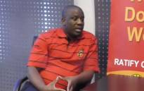 A screengrab of Cosatu spokesperson Sizwe Pamla. Picture: YouTube.