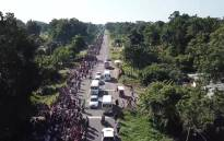 Thousands of migrants head toward the US border, while President Trump threatens to tighten the border. Picture: CNN