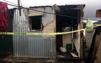 FILE: A burned shack. Monique Mortlock/EWN