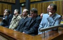 FILE: The six men accused of Betty Ketani's murder. Picture: Christa Eybers/EWN.
