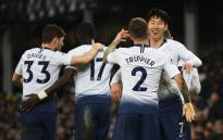 Tottenham players celebrate a goal in their English Premier League match against Everton on 23 December 2018. picture: @SpursOfficial/Twitter