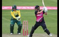 New Zealand Women's Suzie Bates scored 62* against the Proteas Women in their T20 Tri-Series match in Bristol. Picture: Twitter/@OfficialCSA.