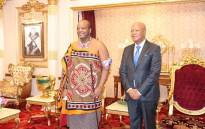 King Mswati III with Special Envoy Jeff Radebe at the king's palace in eSwatini. Picture: Kingdom of eSwatini.