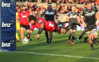 The Canterbury Crusaders swamped the Brumbies 36-14 in Christchurch. Picture: Twitter @crusadersrugby.