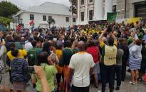 Speaker of the National Assembly Thandi Modise tells the Springboks that they have made the entire country proud during their victory tour of Cape Town on 11 November 2019. Picture: @ParliamentofRSA/Twitter