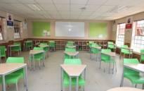 FILE: A classroom at the Ga-Rankuwa Primary School, north of Pretoria, on 26 May 2020. Picture: @Lesufi/Twitter.