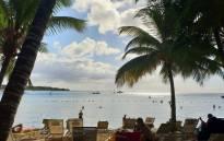 A view of the Balaclava Beach in Mauritius. Picture: Adrian Ephraim/EWN