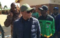Outgoing Tshwane mayor Kgosientso Ramokgopa arrives at the voting station in his home town of Atteridgeville. Picture: Reinart Toerien/EWN.