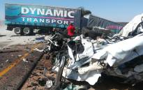 The wreckage of the accident that claimed the lives of 26 on the N1 in Limpopo. Picture: Supplied