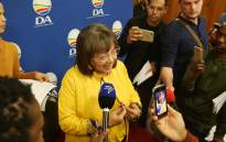 Mayor Patricia de Lille addresses the media after deciding to resign as the mayor of Cape Town on 7 July 2018. Picture: Bertram Malgas/EWN