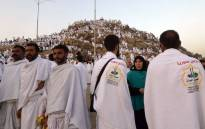 Syrian pilgrims gather at Mount Arafat, also known as Jabal al-Rahma (Mount of Mercy), southeast of the Saudi holy city of Mecca, as the climax of the Hajj pilgrimage approaches on 10 August 2019. Picture: AFP