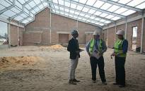 The construction site of the new school in Kraaifontein. Picture: WCED