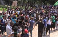 Students from different varsities demonstrated at the Wits university campus against the suspension of students, who have been excluded for not paying their fees. Picture:Kgothatso Mogale/EWN