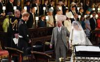 The Prince of Wales accompanied Ms Meghan Markle down the aisle of the Quire of St George's Chapel. Picture: @ClarenceHouse/Twitter