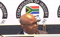A screengrab of Themba Maseko appearing at the state capture inquiry on 6 November 2019.