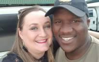 Kim Davey and Menzi Mngoma. Picture: Kim Davey/facebook.com