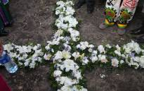 Mining union AMCU lay wreaths in memory of the 34 miners killed in the Marikana massacre in AUGUST 2012. Picture: Kgothatso Mogale/EWN