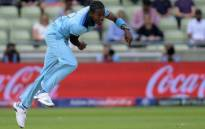 FILE: England's Jofra Archer bowls during the Cricket World Cup semi-final against Australia on 11 July 2019. Picture: @cricketworldcup/Twitter
