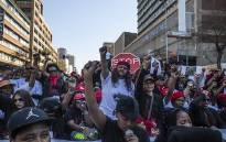 Thousands of women from different sectors of society made their way to the Union Buildings under the #TotalShutDown banner on 1 August 2018. Picture: Kayleen Morgan/EWN