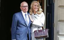 Australian media mogul Rupert Murdoch and Australian model Jerry Hall leave the Spencer House after getting married in London, Britain, 04 March 2016. EPA/Yui Mok / PA UK and Ireland Out.