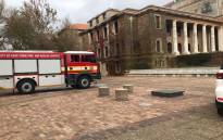 A City of Cape Town fire engine on UCT's upper campus on 19 April 2021 following a blaze the day before. Picture: Lizell Persens/Eyewitness News