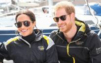 Prince Harry and wife Meghan. Picture: @InvictusSydney/@KensingtonRoyal/Twitter