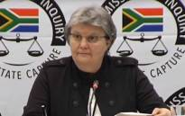 FILE: A video screengrab of former Public Enterprises Minister Barbara Hogan appearing at the Zondo Commission of Inquiry into state capture on 13 November 2018.