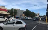 Cars, taxis and buses queuing in Claremont, Cape Town as load shedding takes out the traffic lights. Picture: Kaylynn Palm/EWN