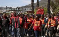 FILE: Cosatu members in the Western Cape during a demonstration. Picture: Cindy Archillies/EWN.