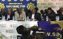 Police Minister Bheki Cele addresses the Yeoville community on 15 June. Picture: Bonga Dlulane/EWN.